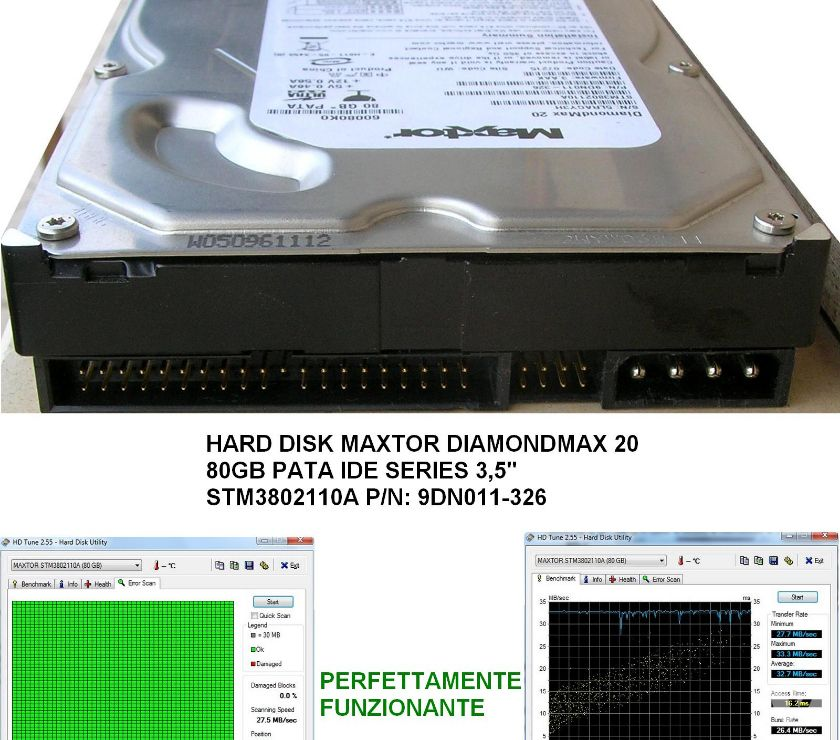 Foto di Vivastreet.it HD MAXTOR DIAMONDMAX 20 3,5'' 80GB PATA IDE PN: 9DN011-326