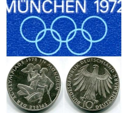 Foto di Vivastreet.it 10 MARCHI GERMANIA 1972, ARGENTO, Giochi della XX Olimpiade.