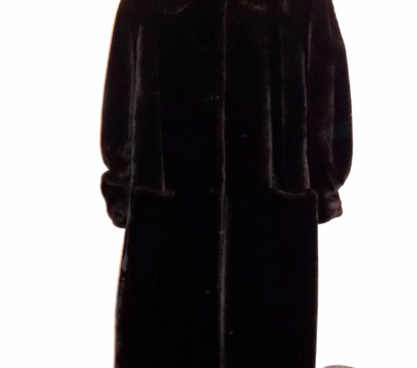 san francisco a82d7 ebe66 Pelliccia ecologica lunga marrone scuro TG46 Asti