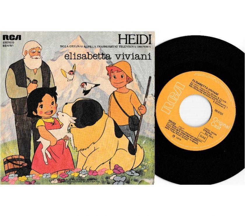 compact disc dvd e videogames Palermo e provincia Palermo - Foto di Vivastreet.it ELISABETTA VIVIANI - Heidi - Sigla TV 7'' 45 giri 1978