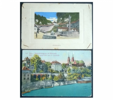 Foto di Vivastreet.it Switzerland Svizzera 2 cartoline col. FP VG SV#05