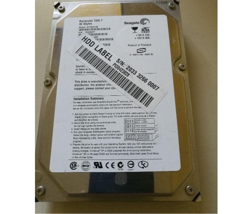Foto di Vivastreet.it Hard disk 2,5 Seagate IDE Ultra ATA da 40 GB usato
