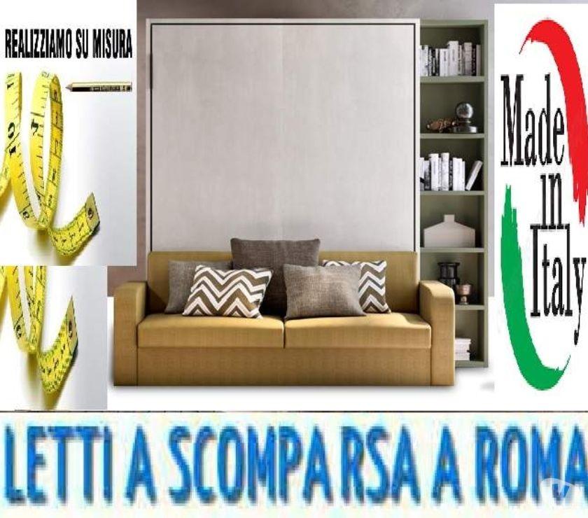 """Foto di Vivastreet.it Letto a scomparsa con divano e libreria""""NAVA""""-LETTI A ROMA"""