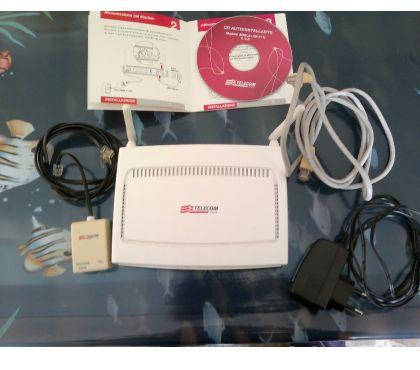 Foto di Vivastreet.it Modem Router WIFI Telecom ADSL 2+ Wi-Fi N - Antenne esterne