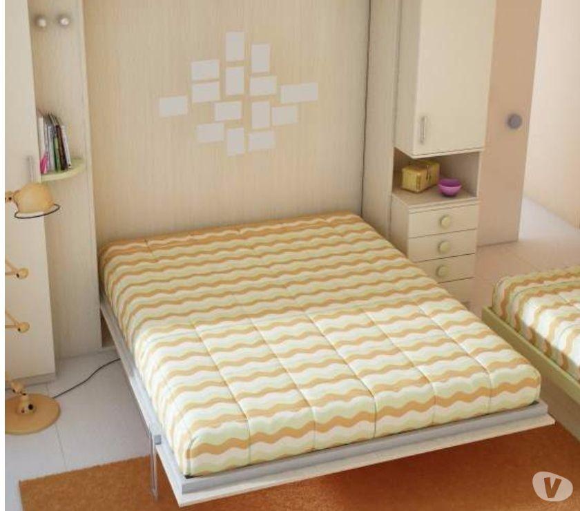 Armadio ponte con mobile letto matrimoniale a scompars in for Mobili usati roma