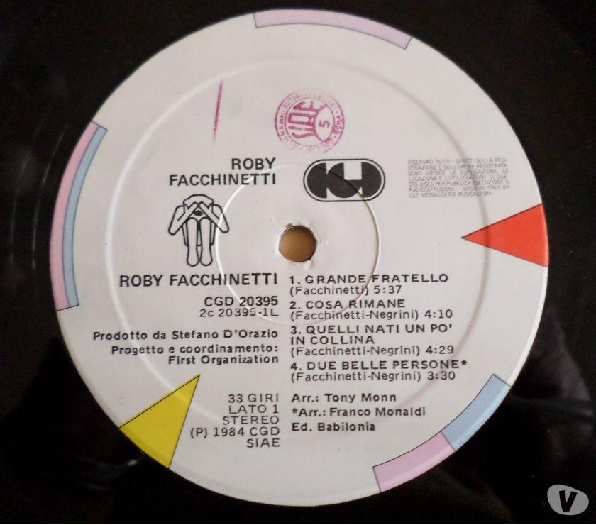 Foto di Vivastreet.it ROBY FACCHINETTI (POOH) - Same - LP 33 giri 1984 CGD Italy