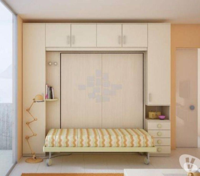 armadio ponte con mobile letto matrimoniale a scomparsa in vendita ...
