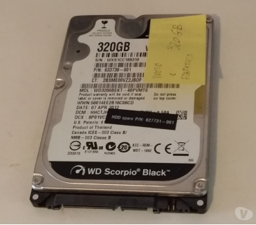 Foto di Vivastreet.it Hard Disk WESTERN DIGITAL 320 GB SATA3 2.5