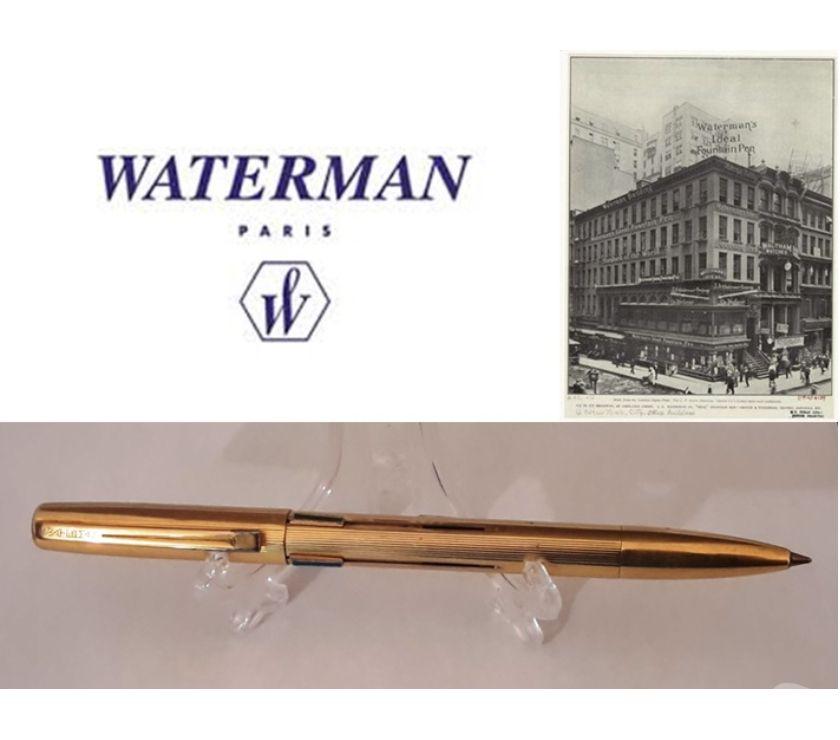 """Foto di Vivastreet.it Waterman penna a sfera """"AJF PLAQUE OR G"""", 4 colori anni '70."""