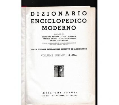 Foto di Vivastreet.it 1938 DIZIONARIO ENCICLOPEDICO MODERNO ED. LABOR 4 VOLUMI