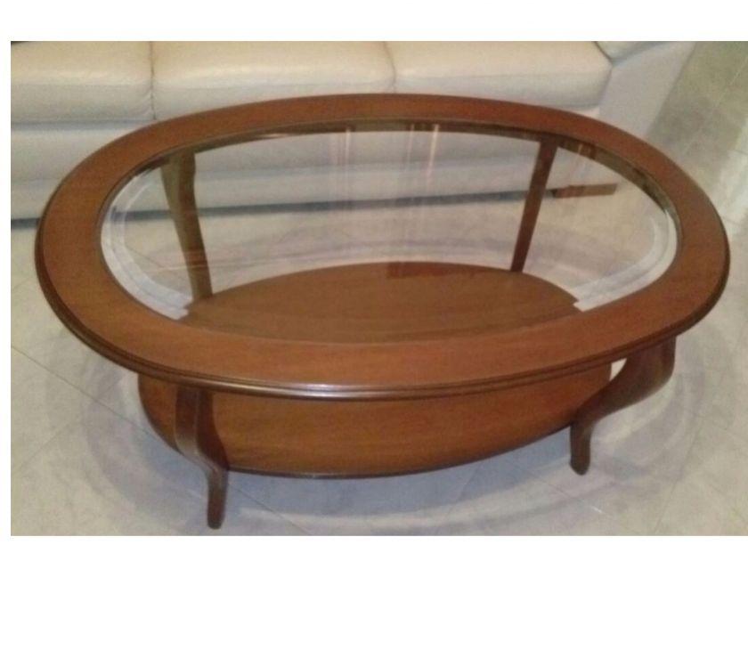 Tavolino da salotto ovale in noce in vendita Binetto - Vendita ...