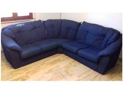 Foto di Vivastreet.it divano ad angolo, blu, 5 posti, usato