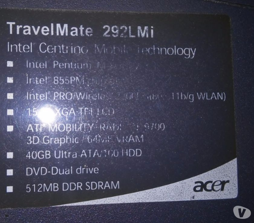 NEW DRIVER: ACER TRAVELMATE 292 LMI