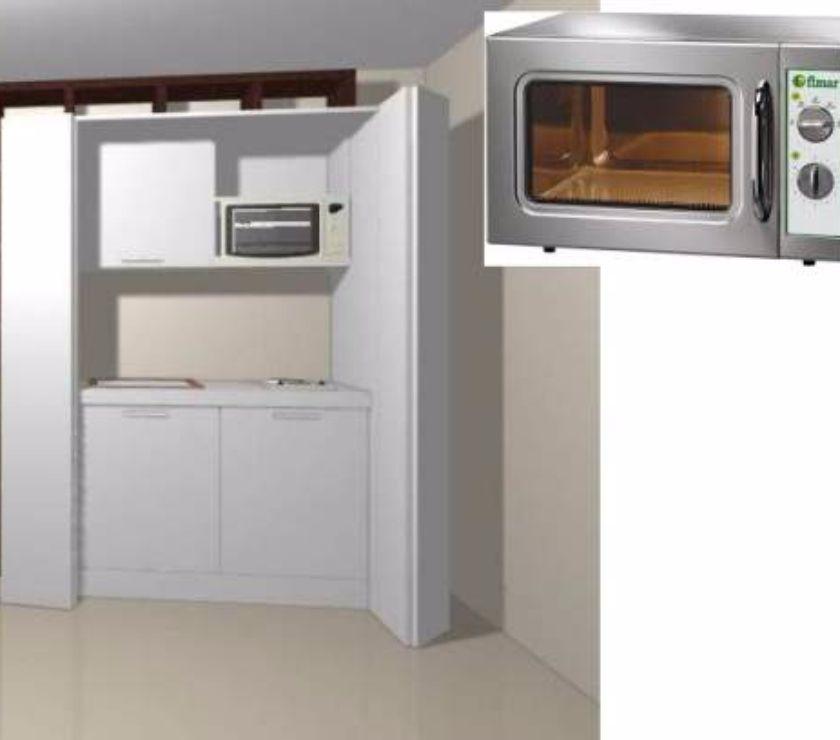 Cucina monoblocco Mini da cm 124+forno microonde in vendita Roma ...