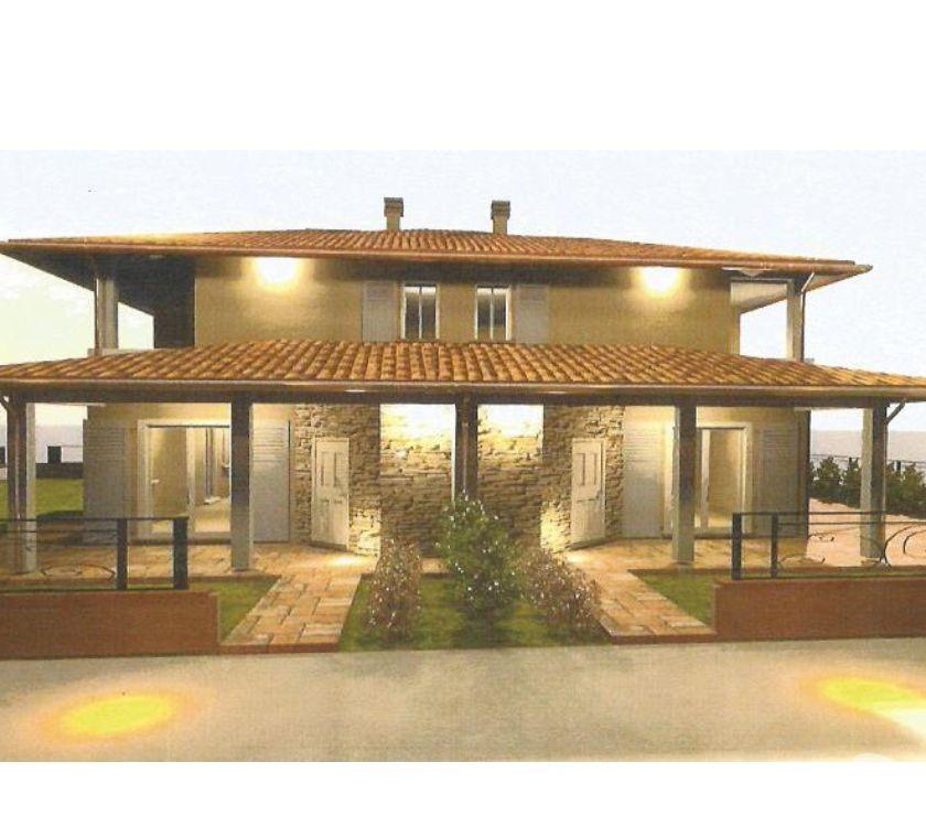 Villetta bifamiliare in progetto nuova costruzione for Progetto casa moderna nuova costruzione