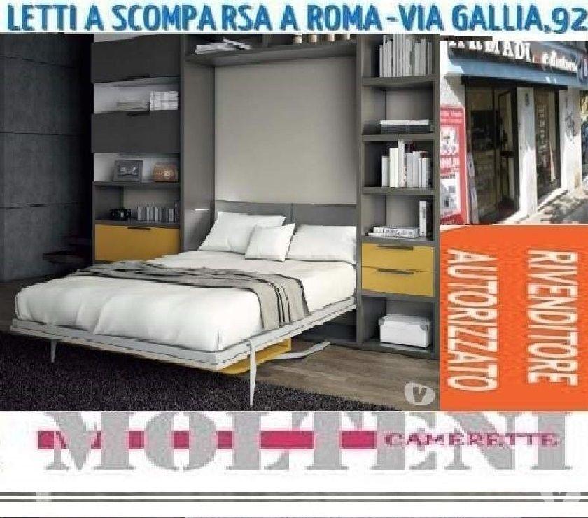 Mobile Letto A Scomparsa 1 Piazza E Mezza.Letto 1 Piazza E Mezza A Scomparsa Vegas Letti A Roma In Vendita
