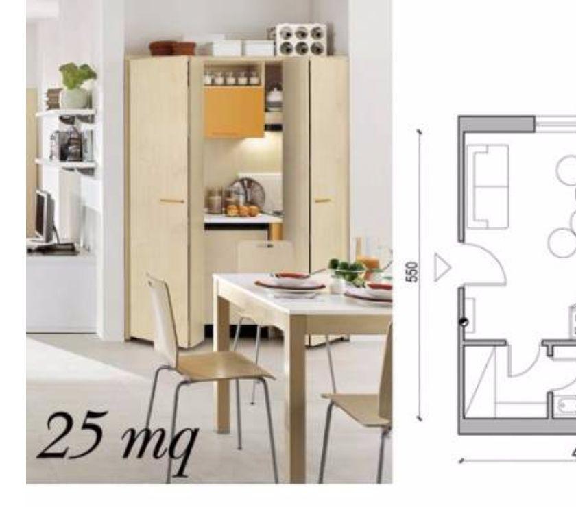 Cucina monoblocco monolocale 25mq-arredo residence b&b in vendita ...