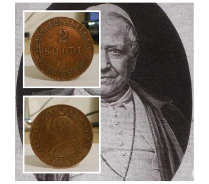 Foto di Vivastreet.it 2 SOLDI 1867–ANN XXI, Stato Pontificio, Pio IX.