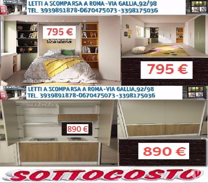 Letto a Scomparsa MATR. FRANCESE MINI CUCINA-SOTTOCOSTO in vendita ...