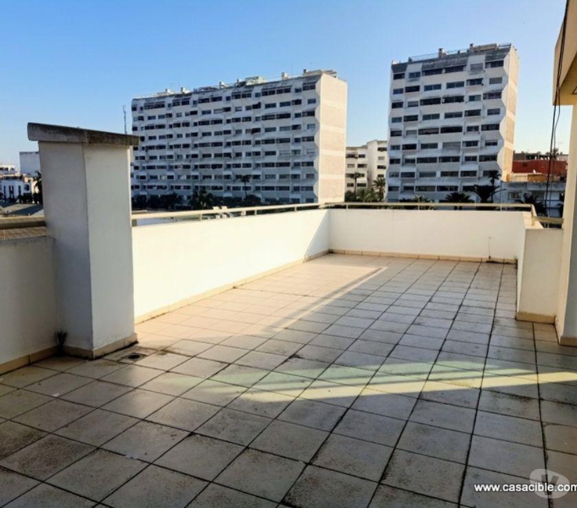 Location Appartement - Maison Casablanca - Photos pour Location appartement vide avec grande terrasse à Bourgogne.