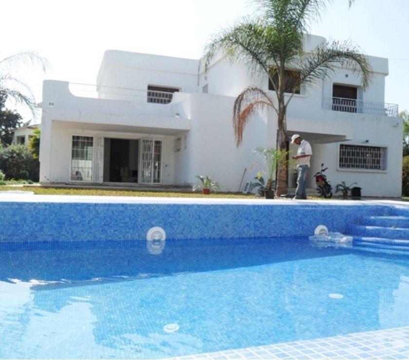 Location Appartement - Maison Rabat - Photos pour Villa avec chauffage et piscine à louer au quartier Souissi