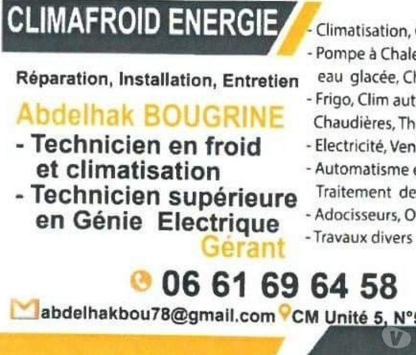 Autres annonces Services Marrakech - Photos pour Réparation Frigo et Climatisation et Électricité