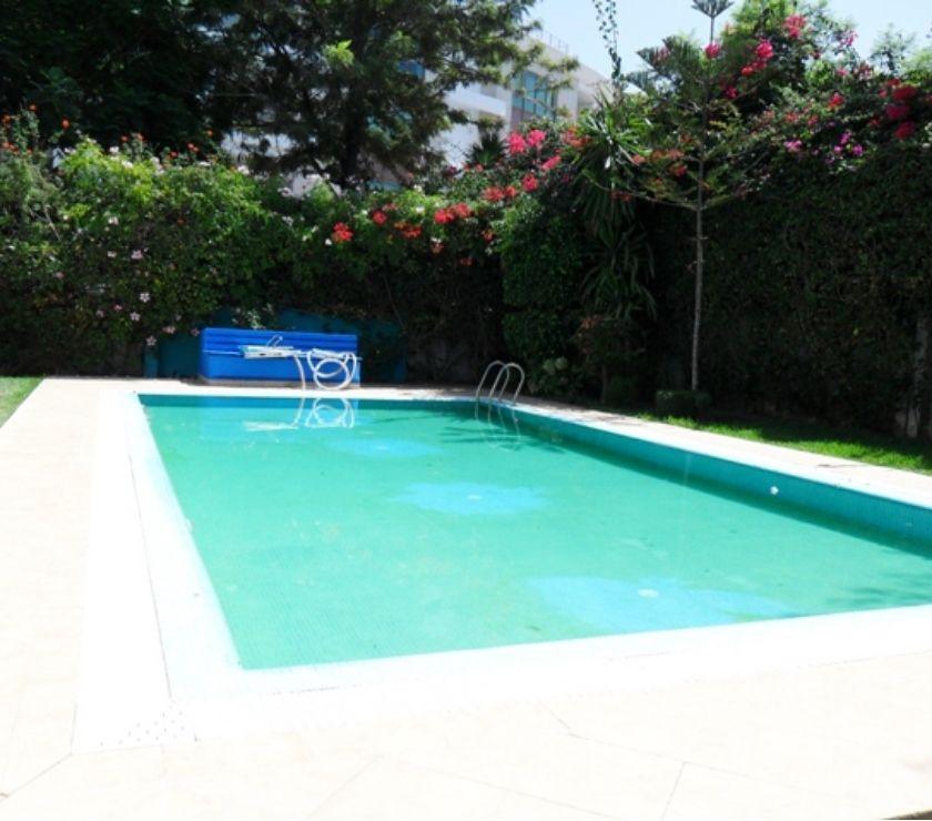 Location Appartement - Maison Rabat - Photos pour villa avec piscine et chauffage central à Rabat Hay Riad