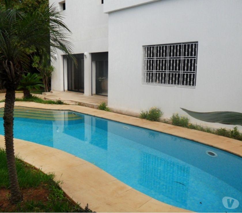 Location Meublée Rabat - Photos pour location villa meublée avec piscine chauffée à Hay Riad