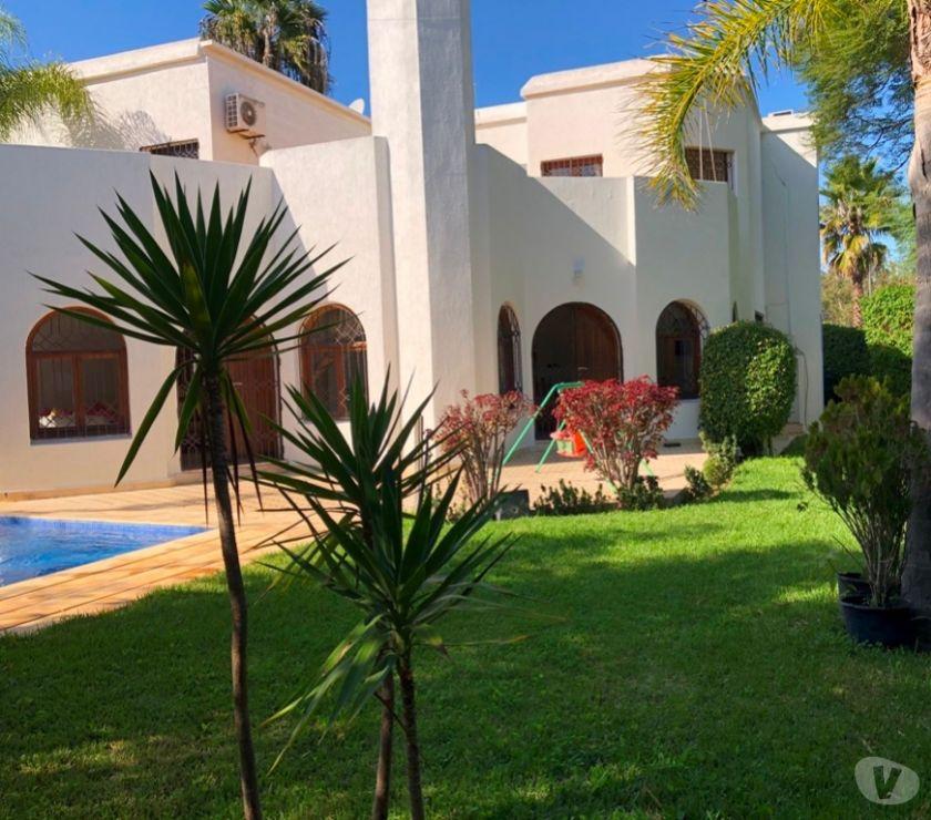 Location Appartement - Maison Rabat - Photos pour Très belle villa avec piscine à louer à Hay Riad