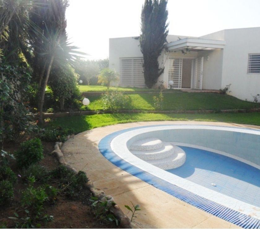 Location Appartement - Maison Rabat - Photos pour location d'une villa avec chauffage et piscine à Souissi