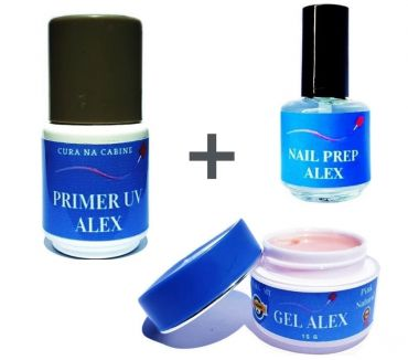 Fotos para gel alex + top coat + primer uv barato alex imports mt