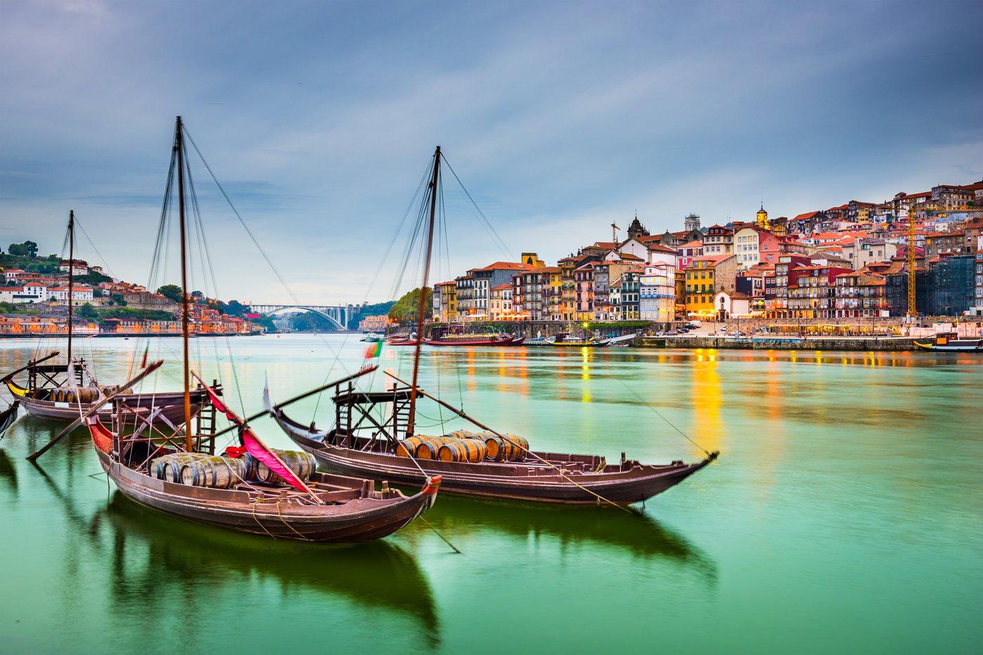 Porto vista do rio Douro